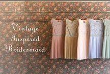 Vintage Inspired Bridesmaid
