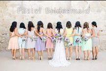 Pastel Bridesmaid / 華やかで楽しいキュートなパステルブライズメイド