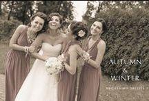 AUTUMN & WINTER BRIDESMAID / TREND COLORS FOR AUTUMN & WINTER BRIDESMAID DRESSES