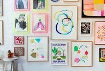 walls (paint, designs, decor) / make your walls shine! So many options!