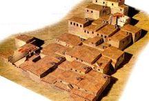 BC 3500 : Mesopotamia / Catal Huyuk - Turkey, BC 7500-5700 Tell Hassuna - Iraq, BC 5500-5000 Tell es-Sawwan - Iraq, BC ????