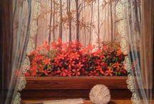 gunseli kapucu paintings...windows#doors#flowers#curtains#oil painting#artist Günseli kapucu / Günseli kapucu paintings