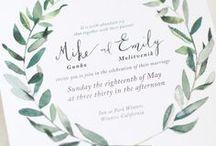 4. Wedding invitations.