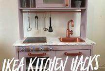 IKEA DUKTIG Children's Kitchen hacks, make over, renovations / DUKTIG IKEA Children's Kitchen Makeover. Hacks and DIY for Kids Play Kitchen. Art, Craft, Style, Metallics, Wallpaper, Print, shop front.