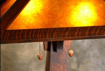 Holland Collection's Mission Oak Table Lamp / Mission Oak Table Lamp