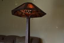 Saugatuck Arts and Crafts Oak Floor Lamp