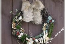 Wreaths   by Anna Ch / I love making wreaths from natural plants.  DIY garland...