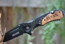 Knives / Custom Engraved Knives, Knives, Personalized Knives, Hunting Knives, Unique Knives