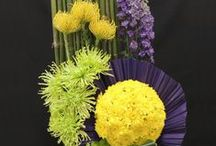 Floral Designs: Tapestry / A Tapestry design is a creative solid-mass design with geometric closed silhouettes. Emphasis is on plant material by volume with other components optional. The volume of the materials may be clustered, bound, woven, etc.