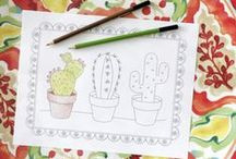 Coloring Book Pages / Get creative with free coloring book printables from makeityourselfmagazine.com.