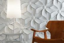 kantanna decorates / walls and floors in colors and tiles and textures and paper and wood and ...