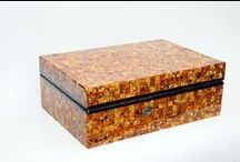 Amber mosaic objects / Amber mosaic, a mosaic pasted objects, antiques