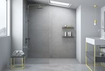 Cement - Shower tray / CEMENT shower tray // Cement texture // The product line CEMENT brings an industrial design feeling to the bathroom. This very current design trend is reflected in an exceedingly realistic finishing, which confers avant-garde looks to the area. The drain is fully accessible and the water drainage is fully operative. This is a shower tray for those who want daring uniqueness. // nuovvo.es
