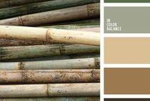 Idées colorées / Palettes de couleurs pour déco, web design etc.