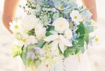 BLUE ~ TO HAVE & TO HOLD / Blue wedding & event flowers. Blue bouquets, blue centerpieces, blue flowers.