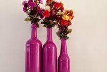 Artesanato e Reciclagem | Garrafas\Potes de Viezajayo dro Decoradas / Reinvente!
