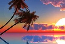 Take me there!!!!! / Sunset, Sunrises, beautiful Oceans and Palm trees!!!!! / by Mands
