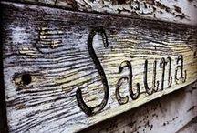 SAUNA / Saunaideen Innen und Außen.