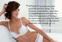 { #itsjustbetweenus } / by INTIMACY {bra fit stylists}