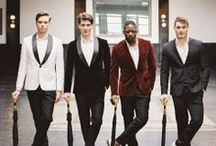 Dapper dudes / It's not just all about the bride, you know! Looking a grooms wedding suits and men's wedding clothing ideas