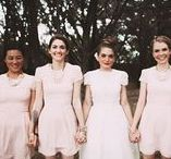 Pretty maids all in a row / Pretty dress designs and style themes for your best friends...your bridesmaids. From traditional pastel shades to big bold statement colours, your girls deserve to shine as much as you