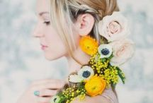 Flowers in your hair / Whether it's full on colourful flower crowns or subtle buds in your hair to make your outfit pop, flowers MAKE your wedding day hair