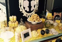 My Babies Gender Reveal Party / Gender reveal party. Featuring a yellow, grey and white colour theme.