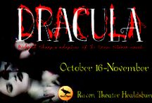 Dracula / Oct 16-Nov 1, 2015 at Raven Healdsburg. The sexiest vampire ever comes to life (and death) on stage! A Raven Players production. www.raventheater.org / by Raven Performing Arts Theater