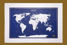 carte des aventuriers - édition bleu nuit / Papeterie