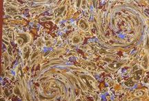 Art of Marbling / A board dedicated to the various marbled papers found in books held at the Othmer Library.