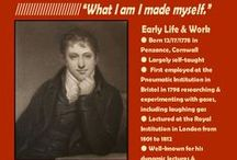 Sir Humphry Davy / This board provides a glimpse into the life and accomplishments of Sir Humphry Davy (1778-1829), a Cornish chemist, inventor, and lecturer.