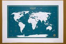 carte du monde des aventuriers - édition bleu canard