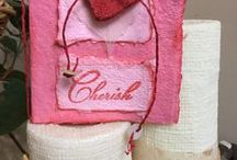 love, heart, valentine / recycled handmade paper projects
