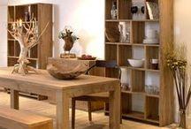 The Beauty of Teak Furniture / We've put together our most beautiful pieces of teak furniture and art to tantalise your teak taste buds.