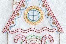 BORDADOS TÉCNICA REDWORK / Punto lineal, en un sólo tono o en varios / by rebeca ibaceta
