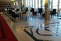 Hillgrove Hotel, Monaghan Refurbishment / The Hillgrove Hotel in Monaghan has completed the latest stage of its refurbishment project. Armatile were engaged in the design, manufacture and fit of the new lobby/bar floor that includes four stunning waterjet cut rug features in both matt and polished porcelains. A stunning floor which we are extremely proud off.