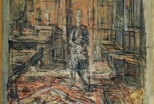 Giacometti, Alberto / Alberto Giacometti - Italian-Swiss sculptor, Painter, Draughtsman and Printmaker - Born: 10th October 1901 in Switzerland - Death: 11th January 1966 in Switzerland