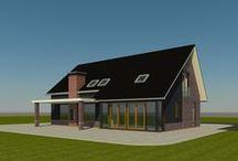 Ontwerpen / Diverse ontwerpen, schetsen en artist impressions van huizen.