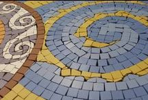 """Staghall Church Feature Mosaic / Circular Decorative Mosaic Feature Panel created in through body porcelains. """"Lamb of God"""" representation. Designed,manufactured and assembled at our Design and Manufacturing Studio in Armagh City for Staghall Church in Belturbet, Co. Cavan."""