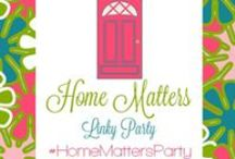 Home Matters Linky Party / Featured Posts from the Home Matters Linky Party. Anything pertaining to the home. Recipes, DIY, Decor, Gardening, Home Repair, Organization, Tips & Tricks, Crafts, Family, Kids, and more. #HomeMattersParty