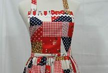 Beautiful Aprons11 / Mostly patchwork / by Lupe Mora
