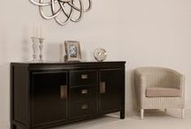Shanxi Oriental Black Lacquered Furniture / The Shanxi collection is made from solid wood with a rich natural grain, beautifully highlighted by its hand lacquered finish. Inspired by traditional oriental furniture, the attention to detail is immaculate and each piece features a stunning stressed edge and distinctive hinged handles.