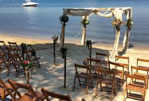 Beach wedding. / A natural kind of bohemian and mix match wedding, on the beach with ceremony kiosk, wooden chairs and natural details! If you dream it we can plan it.