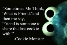 Cookie monster / monster met karakter / by Annelies Borgers