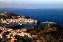 Collioure - France / Photos du village de Collioure en bord de Méditerranée dans le département des Pyrénées orientales ( région Languedoc-Roussillon)