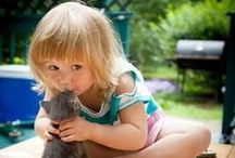 Kids ♥ Animals / Adorable moments with kids and animals. It's amazing what an incredible connection they have and how beautiful they look together. We really ♥ it!