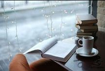 books, hot drinks and cosy days