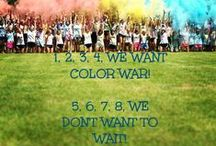 color war / One, two, three, four, we want COLOR WAR!