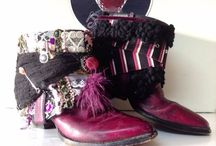 ٩(ↀꀾ✪)وloveberrybrand / http://facebook.com/loveberrybrand   One pair of boots that are uniquely your own with no other the same. LOVEBERRY BOOTS uses the `vintaged` western boots as a collage. I use belts, watch cases, fabrics and other recycled furs/material and accessories.
