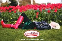 Festival wellies -  wellingtons - rain boots Rockfish / wellington - wellies - rain boots - gum boots - London